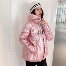 Женская новая зимняя куртка с меховым воротником, теплая Женская куртка с капюшоном, Новое Женское зимнее пальто, длинная парка, женская верхняя одежда, Женская куртка