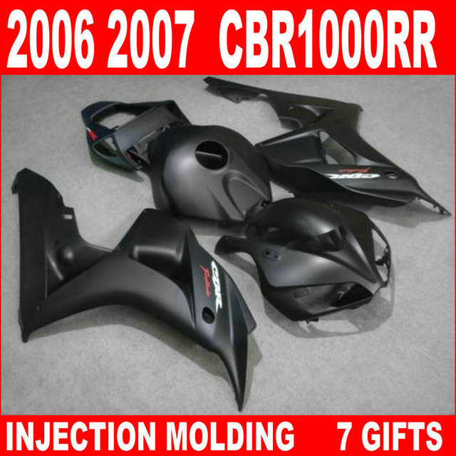All dark black motobike parts for HONDA cbr 1000rr fairings cbr 1000 rr fairing kit 06 07 CBR1000RR
