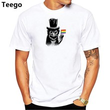 gay pride shirt t shirt men cartoon 2018 cool funny white tshirt print T-shirt men Tees(China)