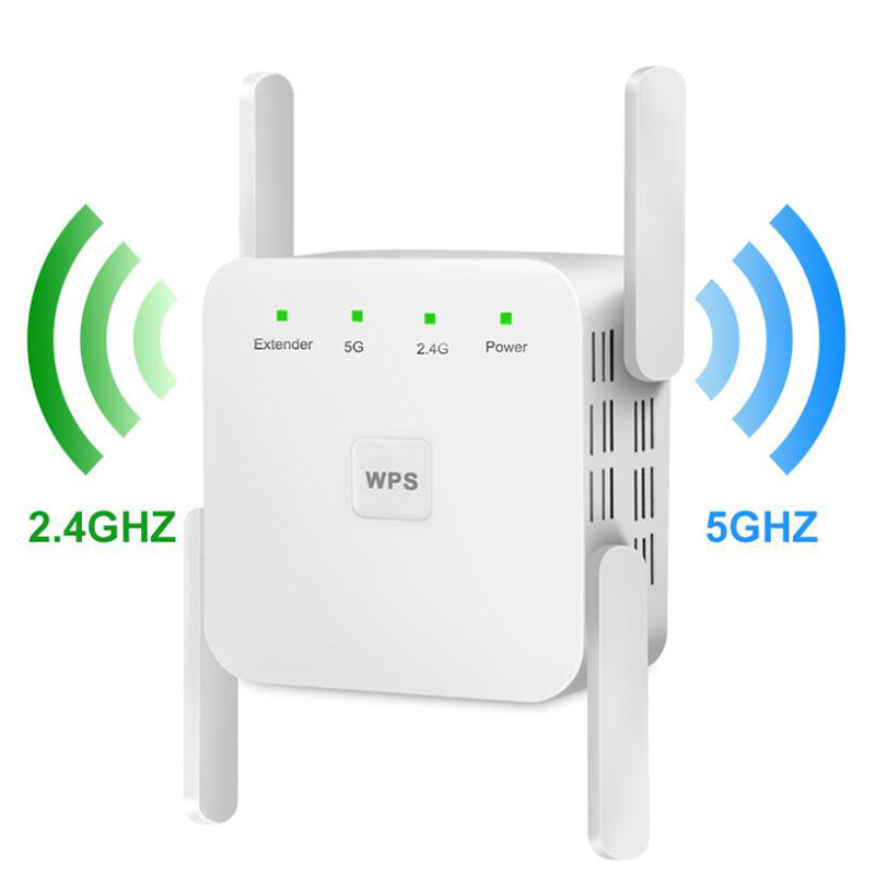 KuWfi Wireless Wifi Repeater WiFi Extender 2 4G 5G AP Router Wi Fi Amplifier 5ghz Signal Repeater Wi-Fi Access Point
