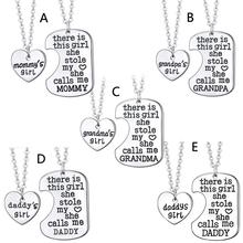 2Pcs Father Daughter Gift These Girls Stole My Heart They Call Me Daddy Keychain Set Heart Puzzle Daughter Dad Necklace