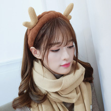 Korean headdress sweet simple hair band female makeup bunch cute butterfly suede headband for washing face