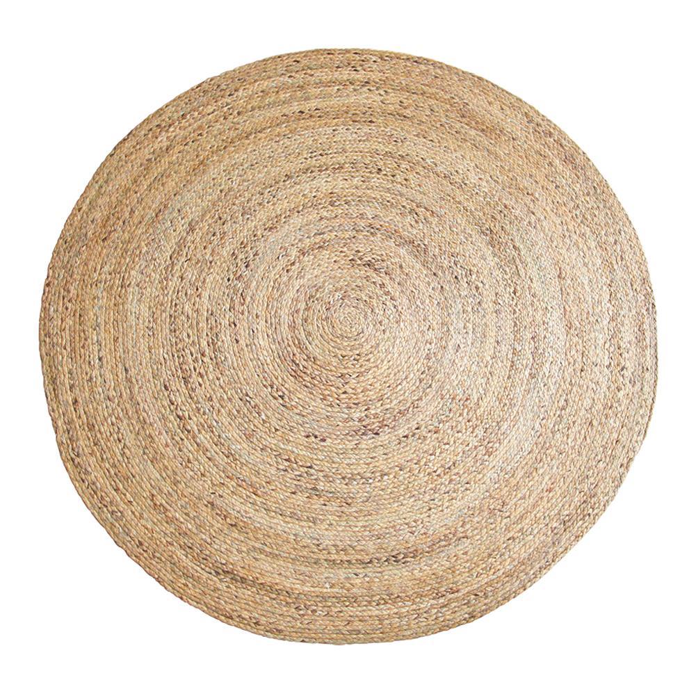 Tapis en paille tapis tissé à la main tapis de Jute rond Tan tapis de sol de Style Rural tapis de sol de jeux pour enfants pour décoration de salon