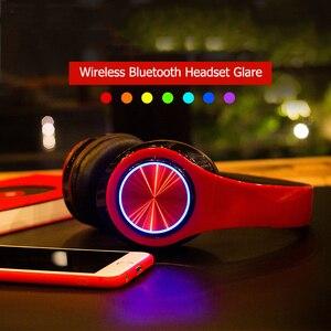 Image 2 - B39 Bluetooth אוזניות אלחוטי נייד מתקפל אוזניות תמיכת שיחת mp3 נגן עם מיקרופון LED צבעוני אורות