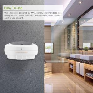 Image 5 - 450 ミリリットル自動ソープディスペンサーハンドフリーセンサーシャワーシャンプー液体石鹸ローションボックスウォールマウント石鹸容器