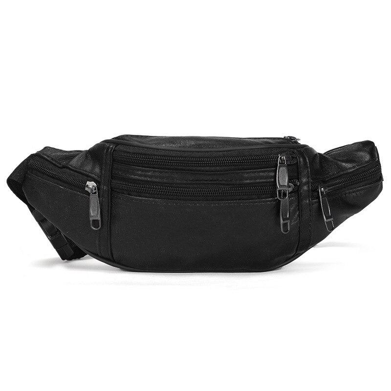 New Men Waist Bag Multifunction Men Waist Pack Fashion Leather Phone Bags Small Belt Bag Cool Fanny Packs