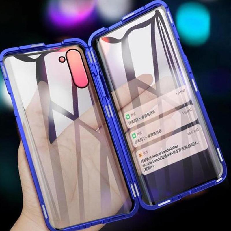 360 Полный Магнитный чехол для Samsung Galaxy Note 20 Ультра S20FE S10 5G S20 плюс A51 A71 A90 A50 A70 A52 металлический бампер S9 стеклянный корпус