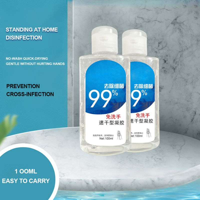 100ml No Wash Quick-dry Disinfecting Hand Wash Gel Disposable Hand Sanitizer