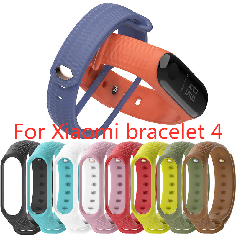 Soft Colorful Geometric Pattern For Mi Band 4 Accessories Pulseira Miband 4 Sport Silicone Bracelet Strap For Xiaomi Smart Watch