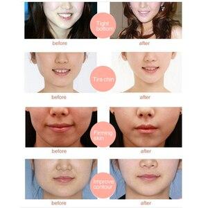 Image 5 - Mulheres levantar v rosto queixo máscaras levantamento firmando emagrecimento bochecha rugas suaves creme rosto pescoço casca fora máscaras bandagem máscara facial