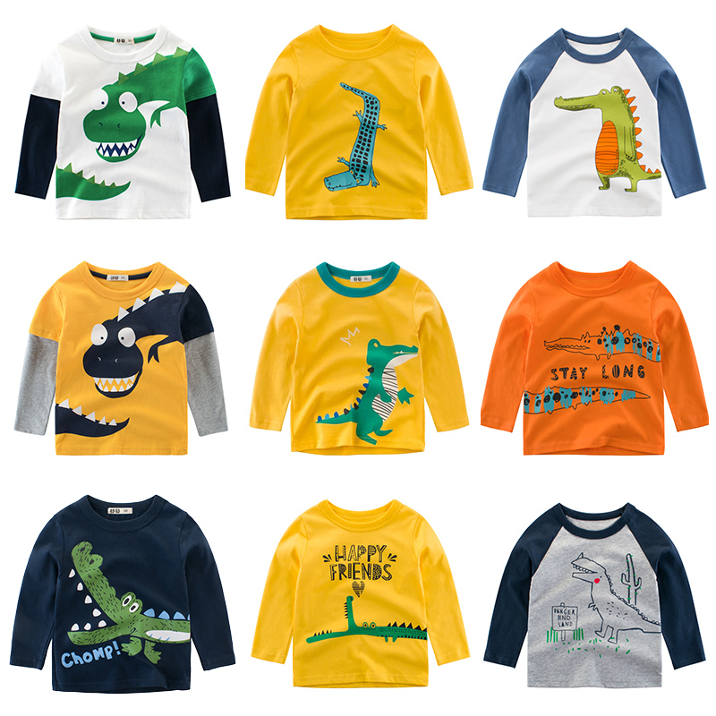Kids Clothing T shirts Print Girls Boys Cotton Children The Crocodile Baby Toddler Tops Cartoon Full Long Sleeves Clothes title=
