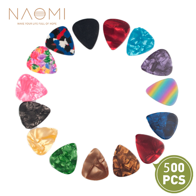 NAOMI Guitar Picks 500PCS Guitar Picks For Guitar Electric Guitar Accessories Musical Instrument Parts Accessories