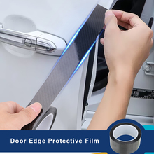 LEEPEE Car Door Edge Guards Sticker Scratch Protector Carbon Fiber Protective Film Trunk Bumper Anti-scratch