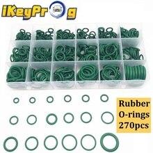270PCS Gummi O-ringe R22/R134a Klimaanlage Reparatur Kompressor Dichtung 18 Größen O-ring Kit grün Metric Gummi O-ringe Dichtungen