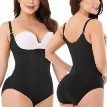 Vêtement de body en Latex pour femmes, entraîneur de taille, Slim, fermeture éclair et crochet, Corset, buste ouvert, contrôle du ventre