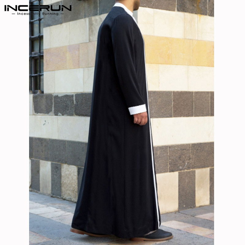 Robes Abaya Kaftan Muslim-Clothing Thobe Dubai Arabic Long-Sleeve Islamic Mens Jubba