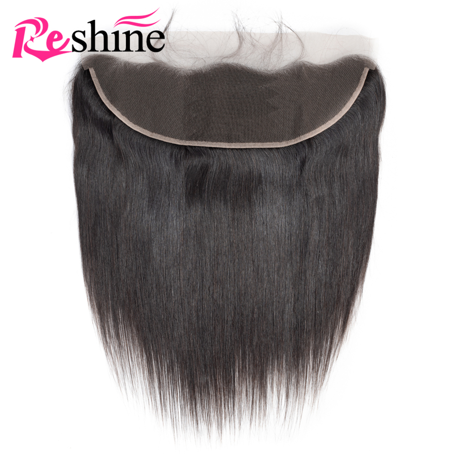 Straight Lace Frontal Closure 13x4 inch Ear to Ear Lace Frontal Peruvian Human Hair Lace Frontal With Baby Hair Natural Hairline