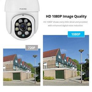 Image 5 - FUERS 1080P kamera zewnętrzna kamera PTZ IP bezpieczeństwo CCTV 4X Zoom kamera monitorująca WIFI P2P chmura noktowizor wykrywanie ruchu