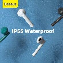 Baseus TWS Bluetooth 5.0 słuchawki bezprzewodowe słuchawki douszne AAC IP55 wodoodporne słuchawki noszenie wykrywania z bezprzewodowym etui z funkcją ładowania