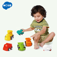6PCS/Lot HOLA 3117 Baby Toys Great Pull Back Car Candy Color Wheels Mini Car Train Plane Model Toys for Children Boys(China)