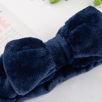 Coral Fleece Soft Headband Cross Top Kont Hairband Elastic Hair Band For Women Girls Wash Face Turban Headwear Hair Accessories 2