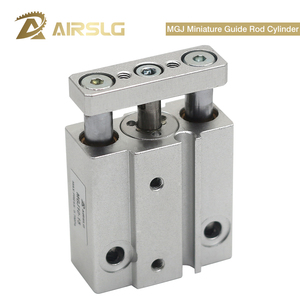 SMC type Miniature Guide Rod Cylinder Built in magnet MGJ6-5 MGJ6-10 6-15 MGJ10-5 MGJ10-10 MGJ10-15 10-20 pneumatic cylinder()