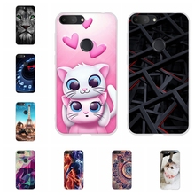 For Alcatel 1S Protective Case Ultra Slim Soft TPU Silicone Cover Animal Patterned Funda Shell