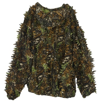 3D Leaf Adults Ghillie Suit Woodland Camo/Camouflage Hunting Deer Stalking in 4
