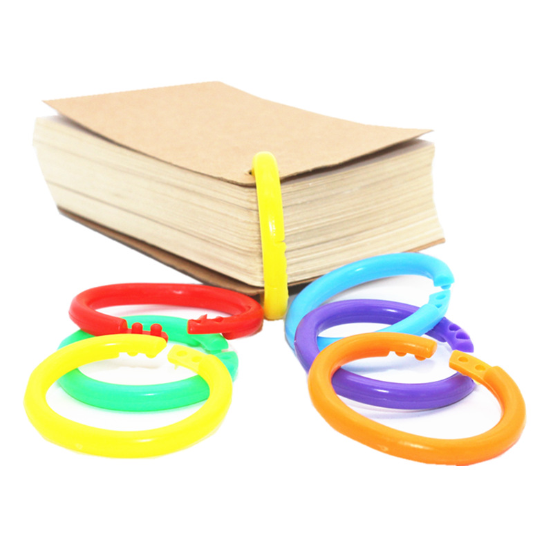 Creative Color Multifunctional Binding Ring Book Loose Leaf Ring Card Notebook Vocabulary Random Card Buckle DIY Opening Ring in Binding Combs Spines from Office School Supplies