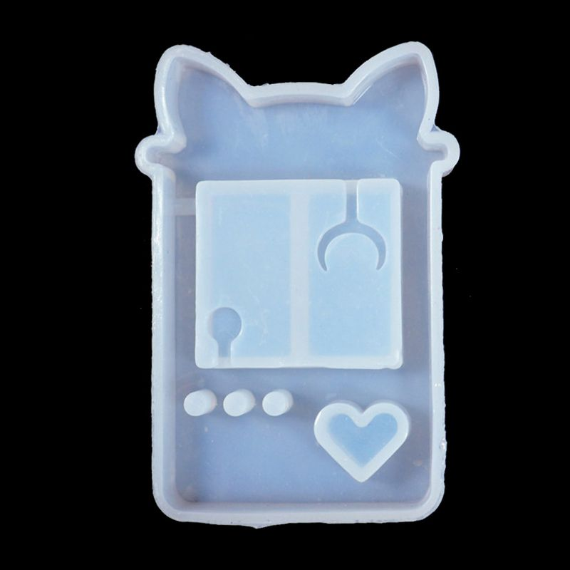 Quicksand Cat Paw Game Console Epoxy Resin Silicone Mold Jewelry Pendant Tools