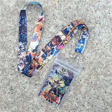 Yu Gi Oh Yugi Muto Keychain lanyard office neck strap ID Badge Protector Case Work Pass Gym Mobile USB Holder Hang Rope(China)
