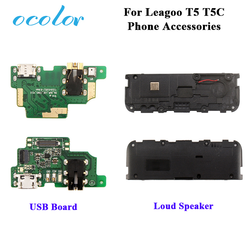 Ocolor For Leagoo T5 USB Charger Plug Board Module Replacement For Leagoo T5C Loudspeaker Loud Speaker Buzzer Ringer Accessories