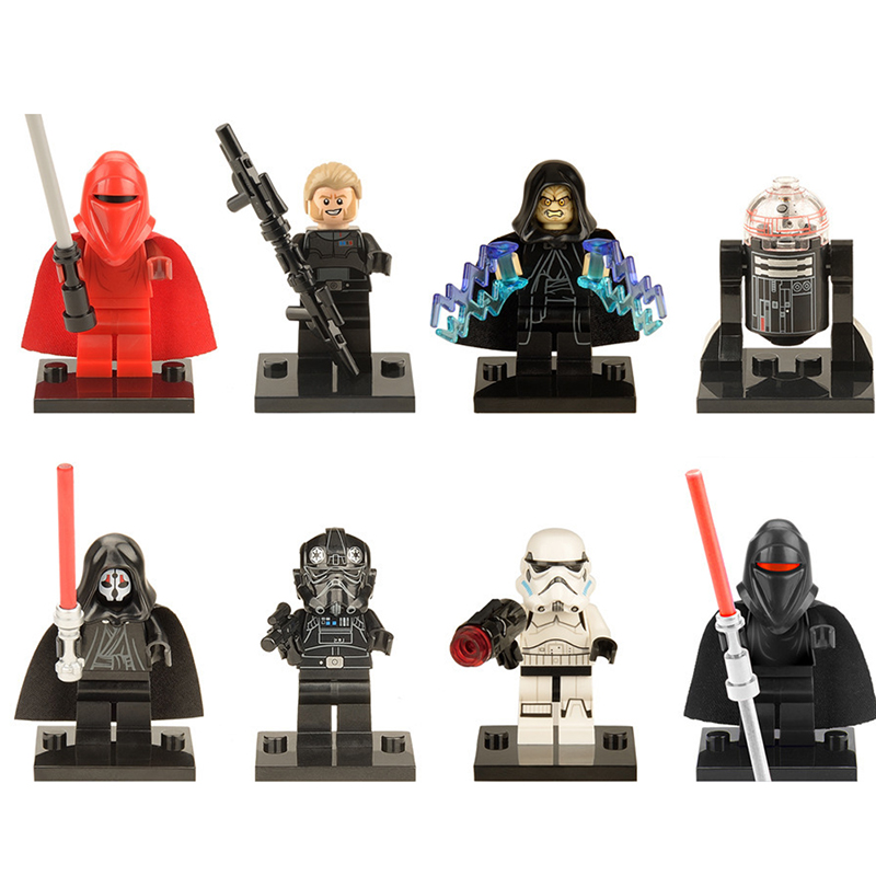 Small Building Block PG8078 Star Wars Movie Figure Imperial Stormtrooper Emperor's Royal Guard Construction Block Toys Kids Game
