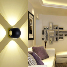 цены LED wall lamp indoor/outdoor wall light waterproof IP65 aluminum sconce for balcony porch garden light porches living room etc.