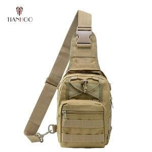 Image 1 - TIANHOO высокое качество многофункциональная нагрудная сумка для отдыха камуфляжная Спортивная уличная тактическая сумка на плечо