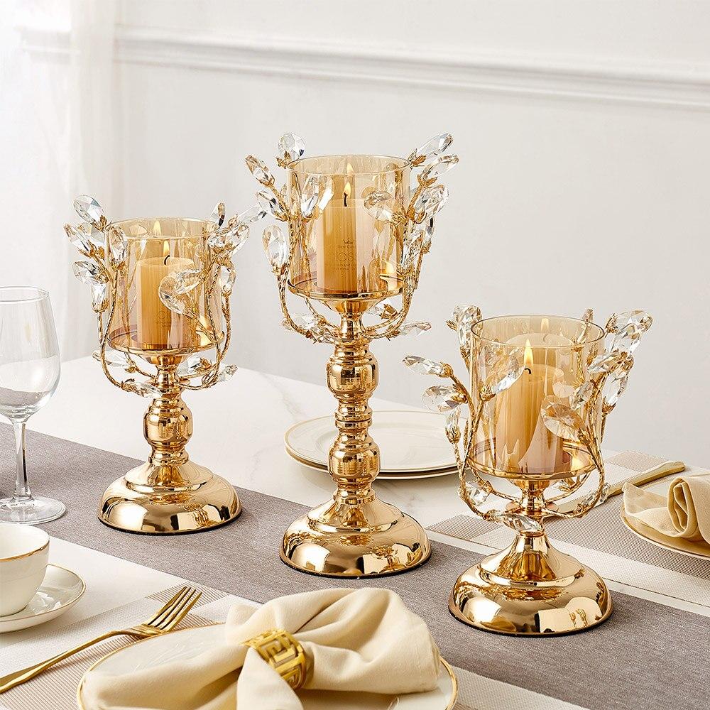 Gold Metal Pillar Candle  1