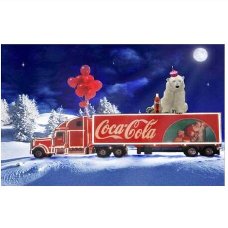 5D DIY Diamond Painting Cartoon Car Santa Claus Christmas Gift Full Home Decor