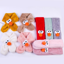 Детский зимний шарф для мальчиков и девочек; Детские теплые шали; шарфы с воротником; утепленный зимний шарф; Прямая поставка;# es