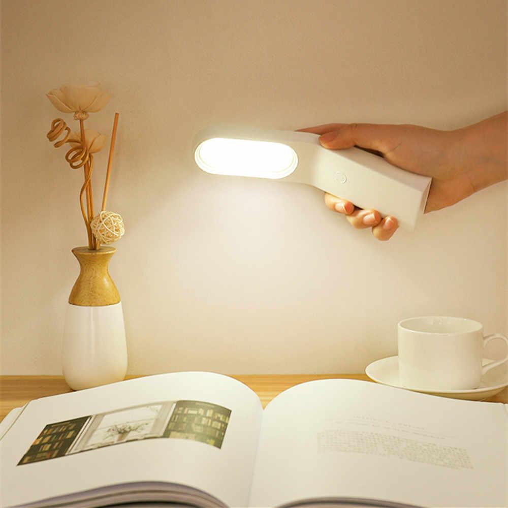 Портативный светодиодный ночник с регулируемой яркостью, настольная лампа с держателем для телефона, уличсветильник фонарь для спальни, прикроватная Магнитная настенная лампа, подарок