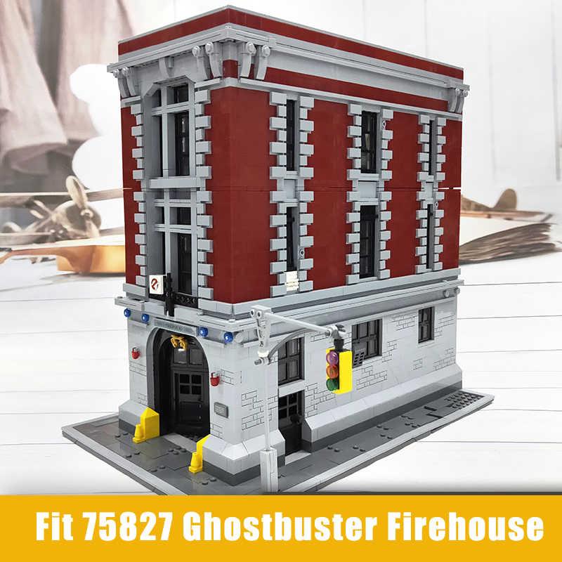 Ghostbusters Firehouse Headquarters Building Blocks ใช้งานร่วมกับ City 75827 83001 สถาปัตยกรรมอิฐของเล่น Lepinblocks King