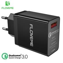 FLOVEME 18 ワット急速充電 3.0 USB 充電器 & QC 2.0 ウォール電話の充電器 Iphone サムスン S8 S9 シャオ mi mi 8 急速充電器電話