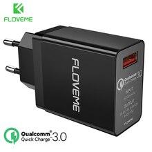 Floveme 18 w carga rápida 3.0 carregador usb & qc 2.0 carregador de telefone de parede para iphone samsung s8 s9 xiao mi 8 carregador rápido para telefone