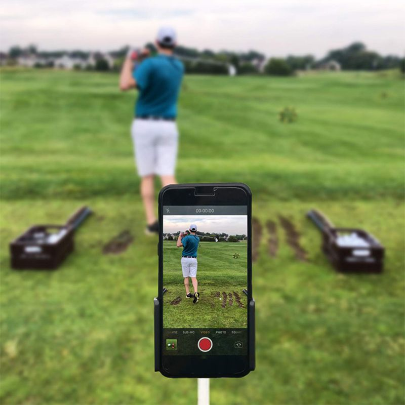Golf Swing Recorder Holder Cell Phone Clip Holding Trainer Practice Training Aid  L69F