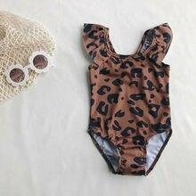 Kids Baby Girl Leopard print Swimming Costume Swimsuit Swimw