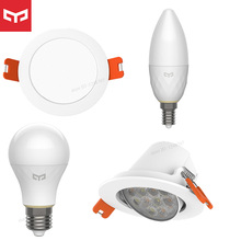 Yeelight projetor inteligente, holofote inteligente e14, lâmpada, trabalho com gateway para mi home