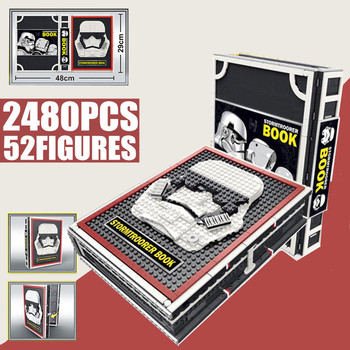 New 2480PCS 52 Stormtrooper Star Space Series Wars Figures Collection Book Edition Model  Building Blocks Bricks Kid Gift Toy 1