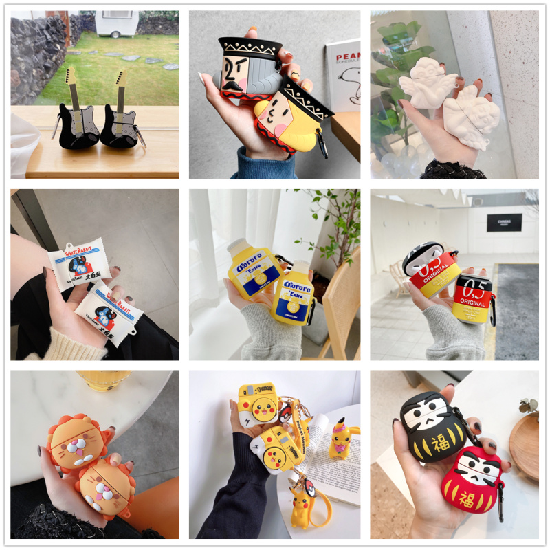 Suitable For Airpods 2 1 Pro Case Silicone Pins Cartoon Protective Cover (for Airbags) Cute Headset Case 3D Headset Case