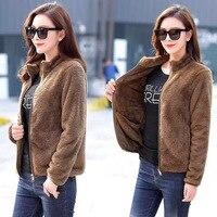 Женское пальто из кораллового флиса, свободное, для улицы, двустороннее, плюс бархат, утолщенное, ветронепроницаемое, сохраняет тепло, трекк...