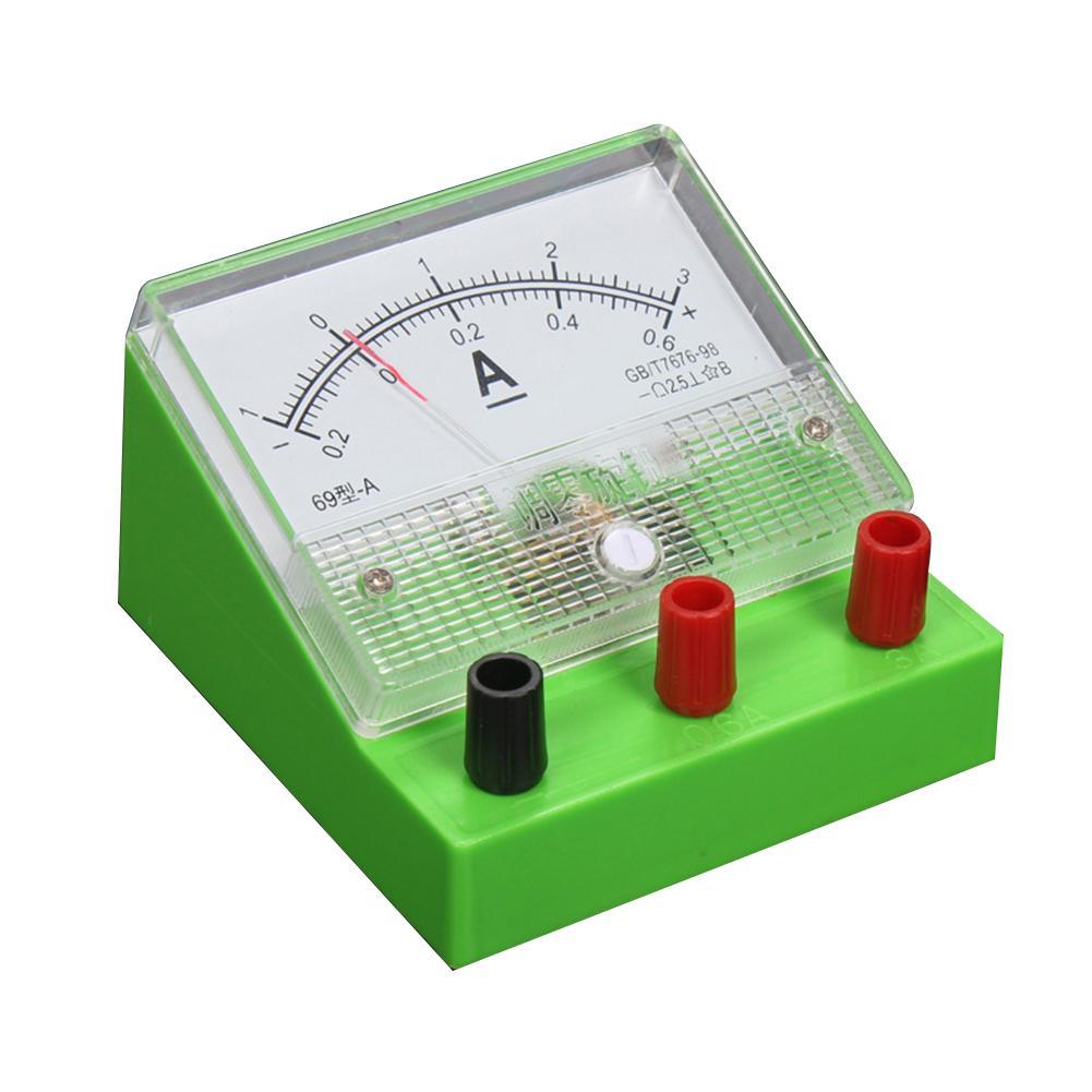 Compteur de courant analogique ampèremètre classe 2.5 électricité enseignement expérience outil Intelligence développement jouets cadeau pour les enfants