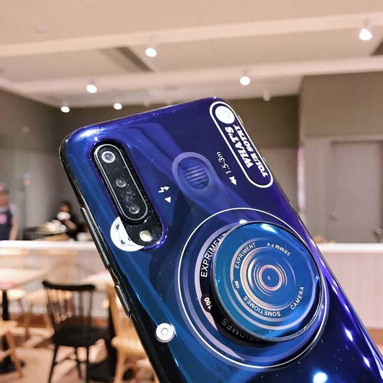 Blu-ray camera Telefoon Case Voor OPPO A9 F9 F11 Pro A3S A5 K3 F7 Jeugd realme X1 2 3 C1 c2 Reno Z case met Lanyard en Beugel